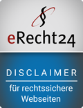 eRecht24-Siegel - Disclaimer